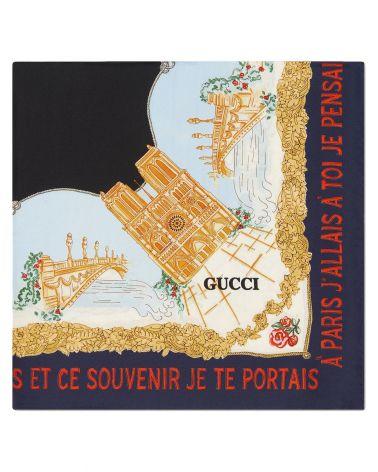 Foulard stampa Ricordi di Parigi