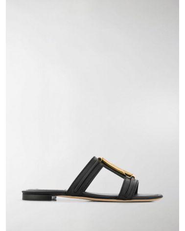 Sandalo pelle doppia T