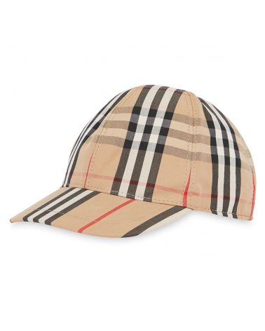 Cappello Baseball righe e vintage check