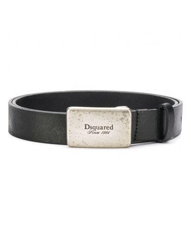 Cintura vacchetta placca Dsqaured
