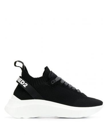 Sneaker Light Sole maglia + vitello + neoprene
