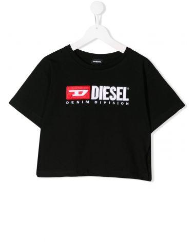 T-Shirt maniche tagliate + logo
