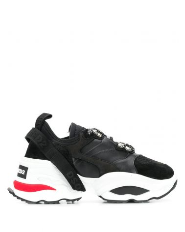 Sneakers vitello + neoprene + mesh