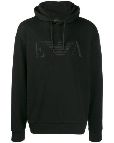 Felpa ml cappuccio + logo