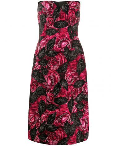 Abito cady dark rose
