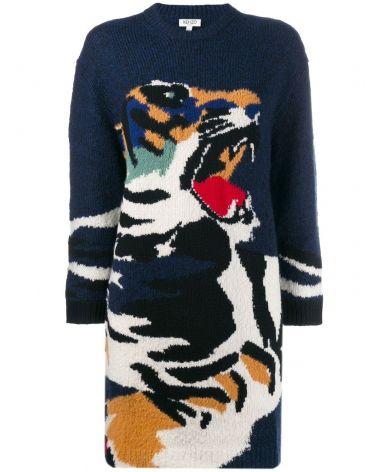 Abito tiger Intarsia
