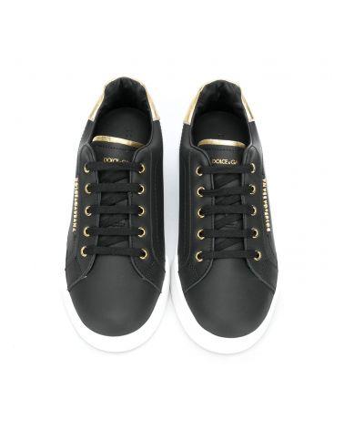Sneakers lettering vit.nappa + lame