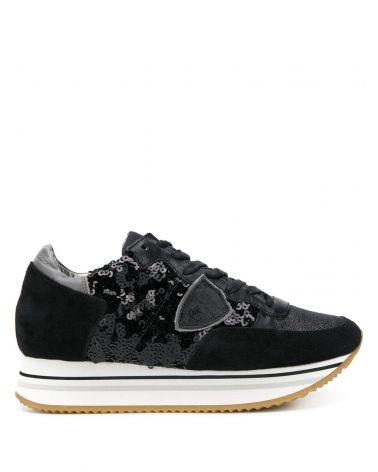 Sneaker Tropez haute paillettes