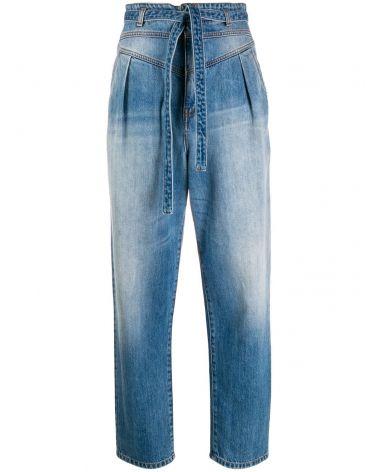 Jeans carrot-fit con cintura Nocino