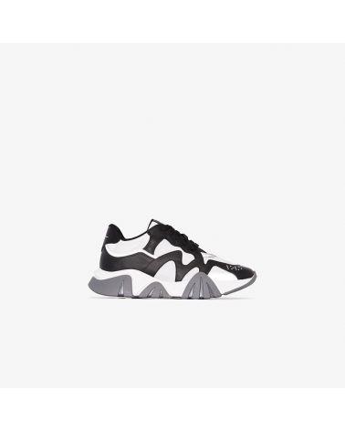 Sneaker vitello + rete + catifrangente