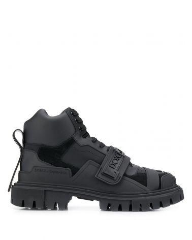 Sneakers alta vitello nappato