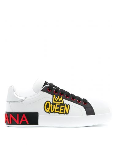 Sneakers classica vitello nappa bicolore