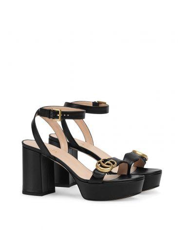 Sandalo con plateau e Doppia G