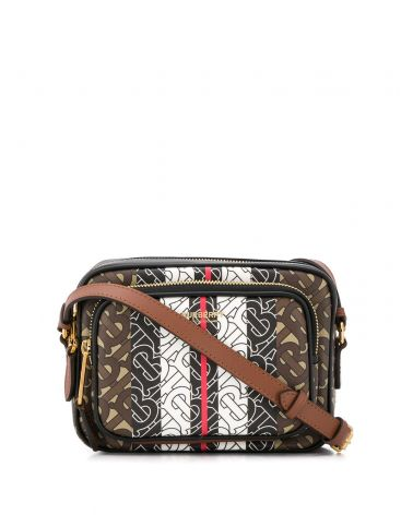Camera bag e-canvas monogramma righe