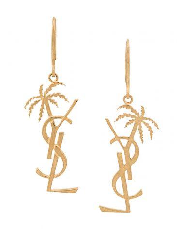 Orecchini Bo monogramm palmier