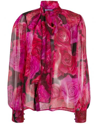 Blusa ml st.rose c/sciarpa