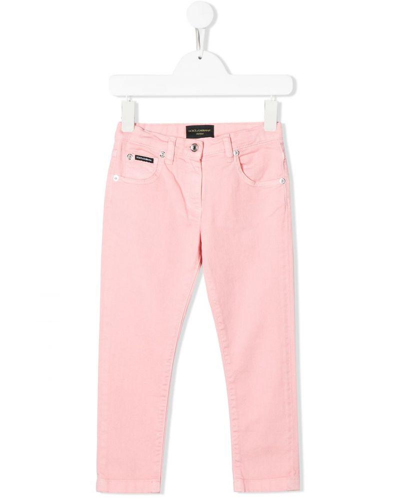 Pantalone 5 tasche tinto in capo