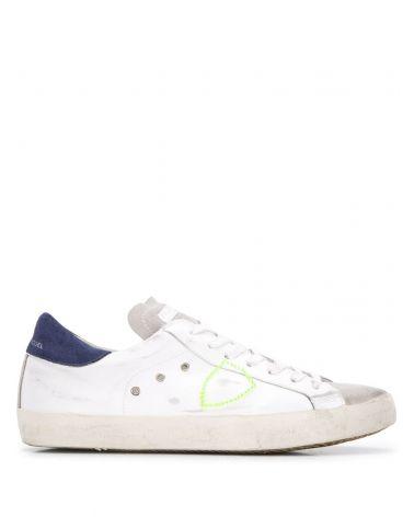 Sneaker Paris vitello mixage neon