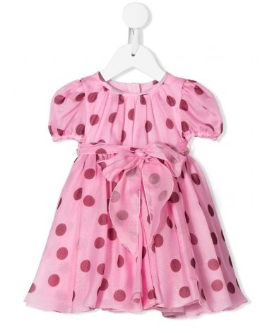 Abito mm + coulotte organza st. pois