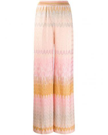 Pantalone foglia lamè