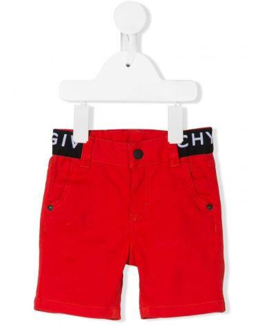 Shorts twill vita c/elastico logo