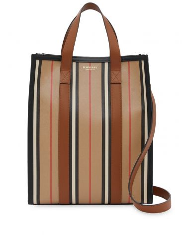 TOTE VERTICALE SMALL E-CANVAS RIGHE