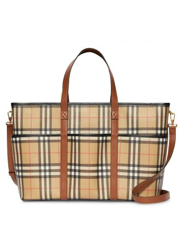 BORSA CAMBIO CANVAS VINTAGE CHECK