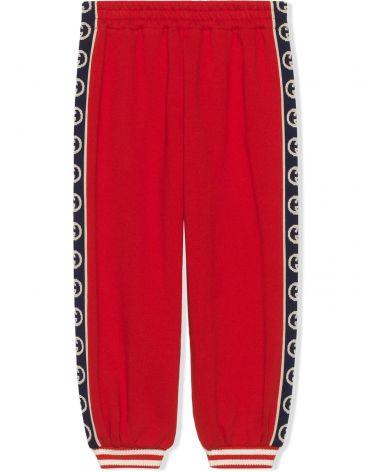Pantalone jersey w/GG trim