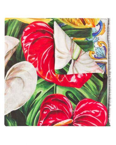 Scialle st. Maiolica Anthurium