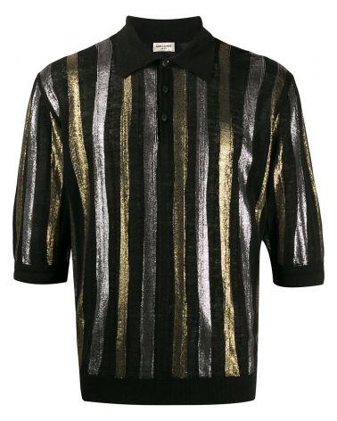 Camicia mm strisce di lino lame