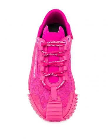 Sneakers bassa pizzo + nylon + lycra