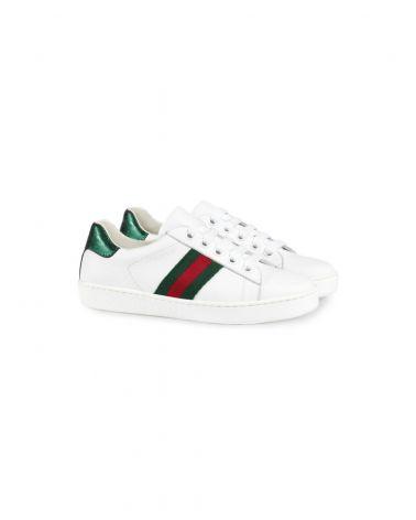Sneaker vitello nastro Gucci
