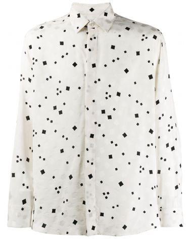 Camicia ml cotone jacquard
