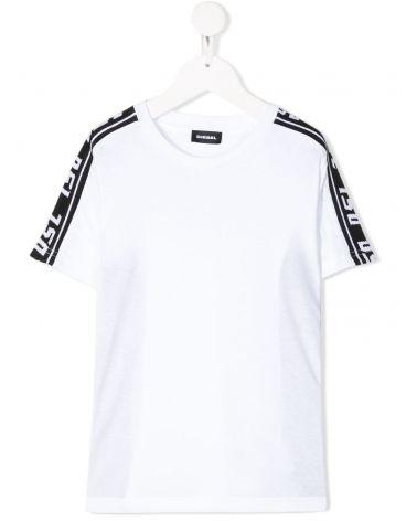 T-shirt mm giro fasce a contrasto