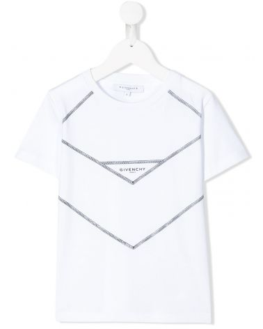 T-Shirt mm giro stampa carré V cut + logo