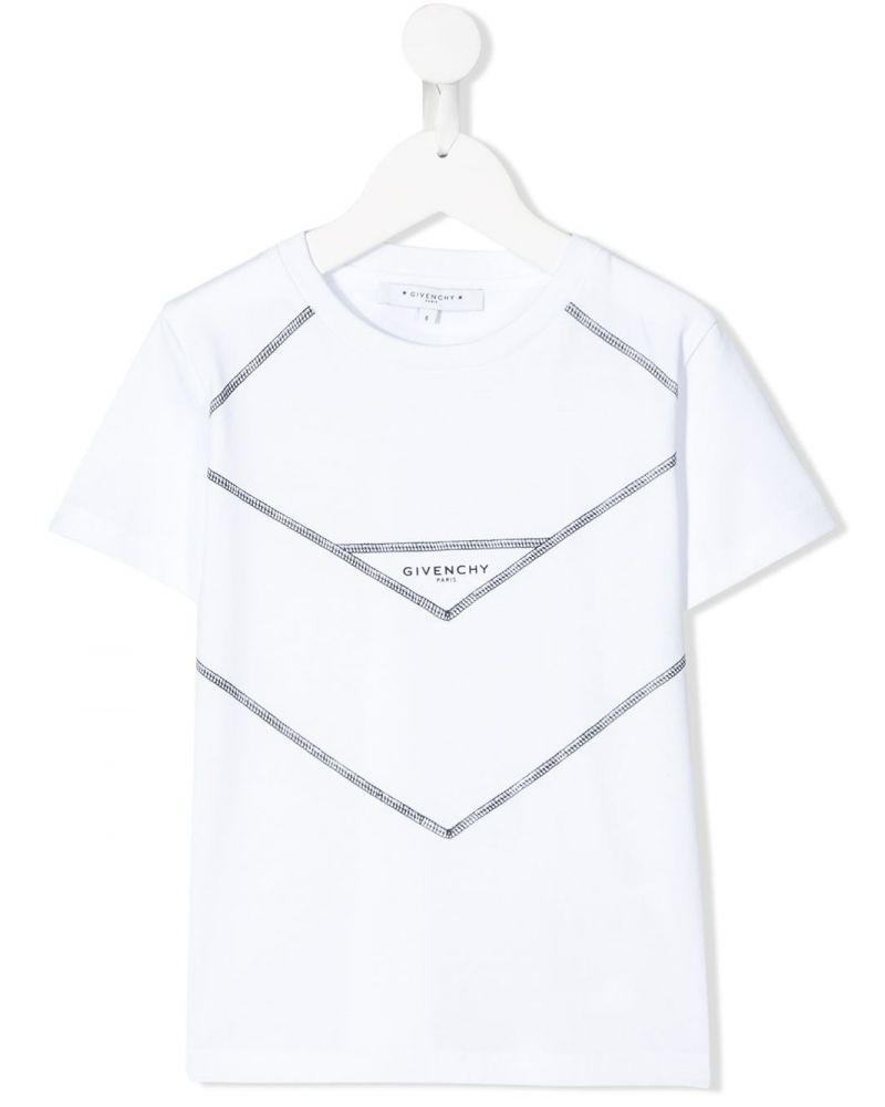 T-Shirt mm giro stampa carré V cut + logo