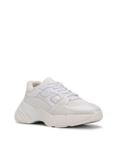 Sneaker pelle Rubino