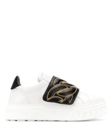 Sneaker contrasto oro