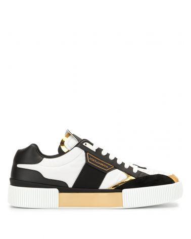 Sneaker bassa nylon + nappa