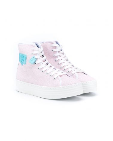 Sneaker high top glitter