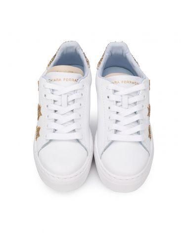 Sneaker pelle gold stars