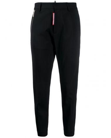 Pantalone c/cerniera lana pettinata