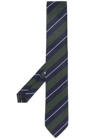 Cravatta misto lana righe regimental