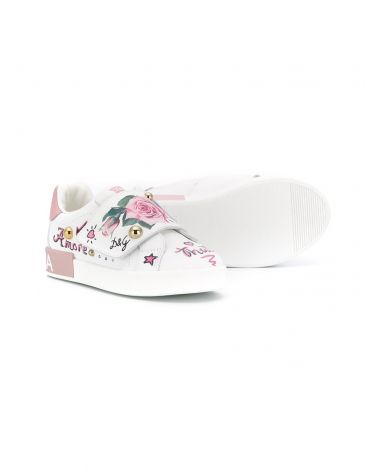 Sneaker bassa velcro laminato