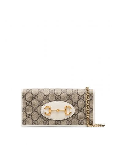 Portafoglio Gucci Horsebit 1955 c/catena