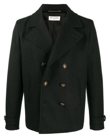 Cappotto doppiopetto lana sablè