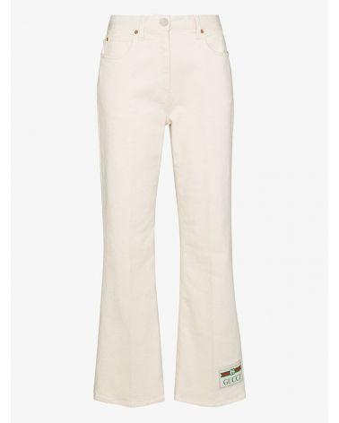Pantalone cotone délavé etichetta Gucci