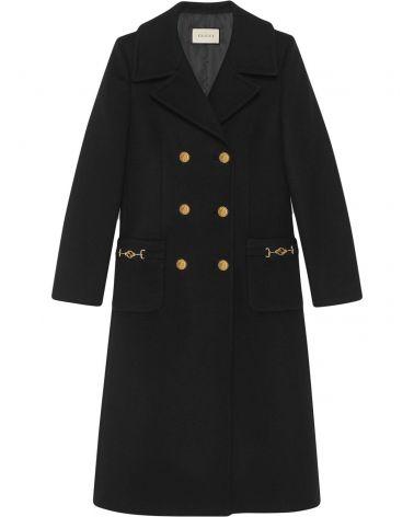 Cappotto doppiopetto in lana