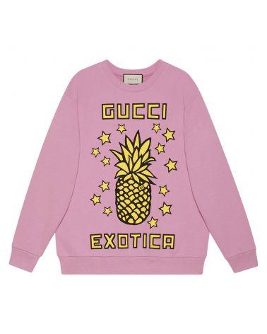 Felpa ml giro st. Gucci e ananas
