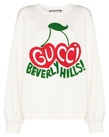 Felpa ml st.ciliegie Gucci Beverly Hills